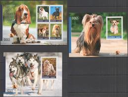 UG005 2014 UGANDA DOGS PETS FAUNA DOMESTIC ANIMALS #3314-7 BL469-470 MNH - Dogs