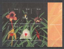 H909 ANTIGUA & BARBUDA FLORA FLOWERS CARIBBEAN ORCHIDS KB MNH - Orchids