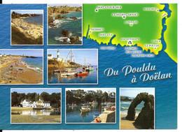 Carte Multivues - Du POULDU à DOËLAN - N°10160 YCA Caoudal éd. - Andere Gemeenten