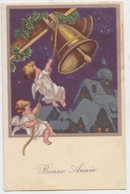 Ancienne Carte Postale - Anges Cloches Bonne Année Angels Bell - Angels