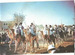 MAURITANIE 1958 ATAR DEFILE GUERRIERS REGUIBAT VISITE PRIVEE GENERAL DE GAULLE - Mauritanie