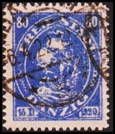 1921 DANZIG. 80 Pf. Kogge (ship).  (MICHEL 57) - JF419832 - Danzig