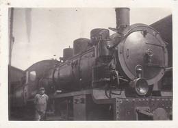Carte Photo - Locomotive Vapeur Et Cheminot - Trenes