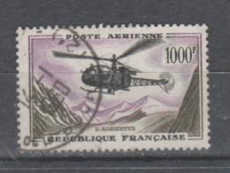 """FRANCE / 1958 / Y&T PA N° 37 : """"2ème Série Prototypes"""" (Alouette 1000 F) - Oblitéré 1960 01 14. SUPERBE ! - 1927-1959 Gebraucht"""