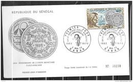 FDC - 1972 - 10 Ans Union Monétaire - Senegal (1960-...)