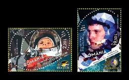 Romania 2021 Mih. 7858/59 Space Flights. Yuri Gagarin And Dumitru Prunariu MNH ** - Neufs