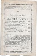 Neve Marie (begijntje -hontenisse 1842 -gent 1882) - Godsdienst & Esoterisme