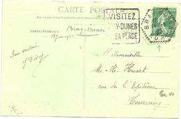 NORD - Dépt N° 59 = BRAY DUNES 1925 (BD HEXAGONAL Pointillé) = FLAMME DAGUIN ' VISITEZ SA PLAGE ' - Annullamenti Meccaniche (Varie)