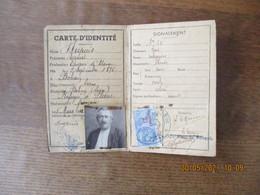 ETAT FRANCAIS CARTE D'IDENTITE DE CITOYEN FRANCAIS DU 5 MARS 1942 DUPUIS A BOHAIN REFUGIE A PLANC TIMBRE FISCAL 13 FRANC - Sonstige