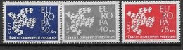 Turquie 1961 Neufs ** N° 1599/1601 Europa - 1961