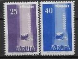 Turquie 1958 Neufs ** N°1412/1413 Europa - 1958