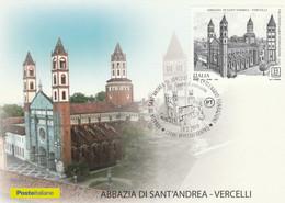 CARTOLINA MAXIMUM CARD FDC 2019 B2 ABBAZIA SANT ANDREA (MX358 - Cartes-Maximum (CM)