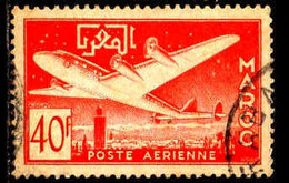 Maroc (Prot.Fr) Avion Obl Yv: 86 Mi:349 Marrakech Et L'Anti-Atlas (Beau Cachet Rond) - Airmail