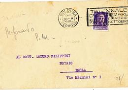 1940 BOLOGNA RARO PERFIN P.M PASQUALE MARTELLI CON TESTO ED IN USO DOTT DIEGO MARTELLI - Storia Postale