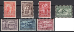 1930: Congo Belge. COB 2020 N° 150/56 *, MH.  Cote COB 2020 : 30,50 € - 1923-44: Mint/hinged