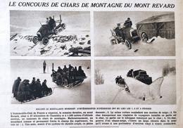 1921 MONT REVARD - LE CONCOURS DE CHARS DE MONTAGNE - 1900 - 1949
