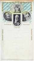 """Speisekarte/Menu """"Deinhard Cabinet"""", 90-jähriger Geburtstag Prinzregent Luitpold Von Bayern 1911 - Menu"""