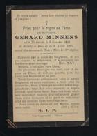 GERARD MINNENS * ° NAZARETH 1863 ° DEINZE 1897 * DRUK VAN COPPENOLLE  * - Overlijden