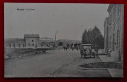 CPA Wanlin, Beauraing - La Gare / Edit.J. Bouillon-Denis. Mercerie, épicerie, Tabacs, Cigarettes - Beauraing