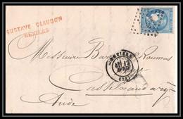 1264 LAC Lettre (cover) N°46b TB Type Bordeaux Pour Castelnaudary Aude 1871 - 1849-1876: Klassieke Periode