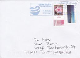 """Deutschland 2021: Covid-19. Blaue Tintenstrahlentwertung """"Gemeinsam Gegen Corona"""". Briefzentrum 88ma Vom 19.5.2021 - Enfermedades"""
