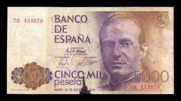 España Spain 5000 Pesetas 1979 Pick 160 Serie 7B Falso De época BC F - [ 4] 1975-… : Juan Carlos I