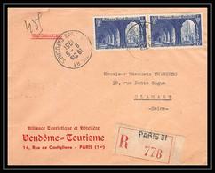 4778/ France Lettre (cover) Recommandé N°842 Saint Wandrille Paris Pour Clamart 1951 - 1921-1960: Période Moderne