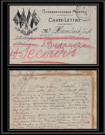 7722 Guerre 1914 / 1918 Secteur 193 France Carte Lettre (cover) 1/2 1916 - WW I