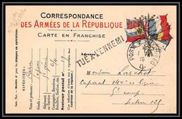 7890 Griffe Tue A L'ennemi 1915 Poste Aux Armees D France Guerre 1914/1918 Carte Postale Franchise Militaire (postcard) - Guerra De 1914-18