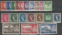 Colonies Anglaises- BUREAU DE TANGER - Série N° 87 à 106 ** - Morocco Agencies / Tangier (...-1958)