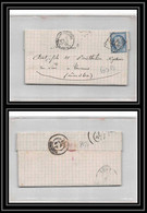 8921 LAC 1874 N 60B Type 2 Ceres 25c GC 842 Chalon-sur-Saone Bureau De Passe 1307 Pour Tournus Saone Et Loire Lettre - 1849-1876: Periodo Classico