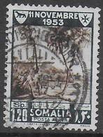 SOMALIA AFIS - 1954 - LOTTA CONTRO LA LEBBRA - POSTA AEREA LIRE 1,20 - USATO ( YVERT AV 50 - MICHEL 293) - Somalia (AFIS)