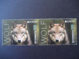 Österreich 2021- 2 Sondermarken Europa 2021 Wolf **ungebraucht - 2011-... Ungebraucht