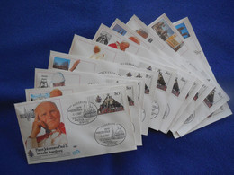 BRD, 10 Briefe Der Deutschlandreise 1987 Von Papst Johannes Paul II, Mit Jeweiligem Sonderstempel - Briefe U. Dokumente
