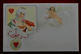 CPA Dame De Cœur - Ange - Cupidon - Women