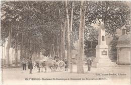 Dépt 48 - MARVEJOLS - Boulevard Saint-Dominique Et Monument Des Combattants 1870-1871 - (Édit. Manen-Pradier, Libraire) - Marvejols