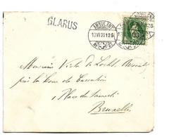 CH070 / SCHWEIZ - Ex Hotel Klönthal, Ambulant Mit Einzeiler Glarus 1896 Nach Belgien - Briefe U. Dokumente