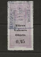 TIMBRES FISCAUX DE MONACO DECHARGES    N°1 0.25 VIOLET OBLITERE Cote 35€ - Fiscaux