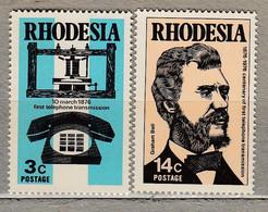 RHODESIA 1976 Communication Telephone MNH(**) Mi 170-171 #28116 - Rhodesia (1964-1980)