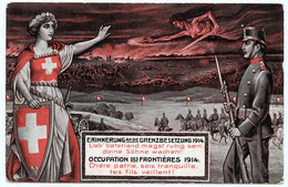 Guerre 14-18.défense De La Neutralité Suisse.occupation Défensive Des Frontières. - War 1914-18