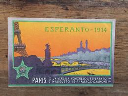 ESPERANTO 1914 -Paris Univzesal Kongreso De Esperanto - Esperanto