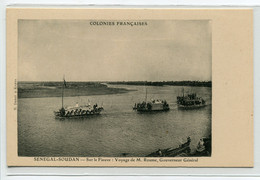 MALI SENEGAL SOUDAN Voyage M ROUME Gouverneur Général Sur La Fleuve Bateaux Barques 1910  D26 2018 - Mali
