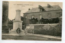72 BEAUMONT La CHARTRE Sur DEME Monument Aux Morts Place Eglise Et L'Ecole 1920    D12  2021 - Zonder Classificatie