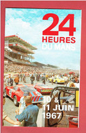 24 HEURES DU MANS 1967 DEPLIANT PUBLICITAIRE 4 VOLETS COMPTETITION AUTOMOBILE - Kleding, Souvenirs & Andere