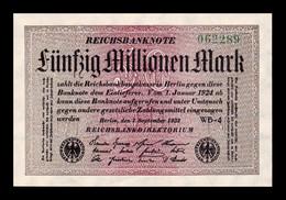 Alemania Germany 50000000 Mark 1923 Pick 109b SC UNC - 50 Millionen Mark