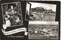 SCENES FROM KOBLENZ, GERMANY. USED POSTCARD Wa6 - Koblenz