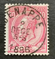 OBP 46 Gestempeld EC GENAPPE - 1884-1891 Leopoldo II