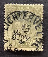 OBP 47 Gestempeld EC LICHTERVELDE - 1884-1891 Leopoldo II