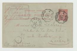 (WE644.36) CP 1905 Cachet Trajet Le Havre A Rouen Vers Laeken, Belgique Au Verso Texte Stenographie - Cartoline Postali E Su Commissione Privata TSC (ante 1995)