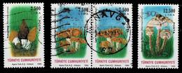 Türkei 1994,Michel# 3032, 3034 - 3035 O  Mushrooms - Used Stamps